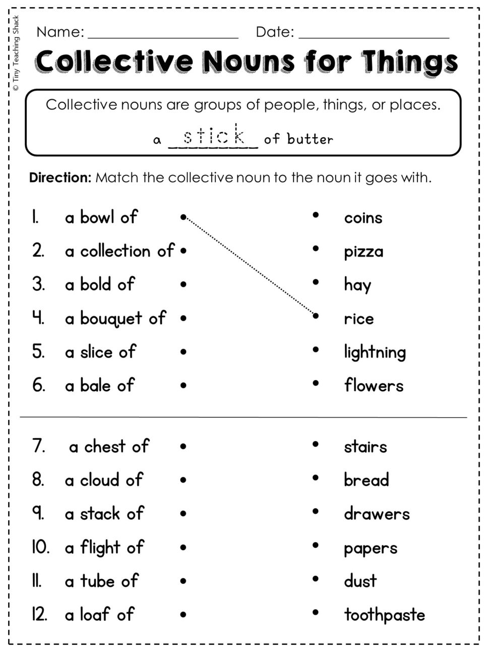 Abstract Noun Worksheets For Grade 4