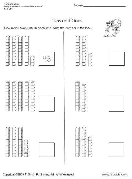 Addition 1st Grade Math Worksheets Tens And Ones  Addition  Best
