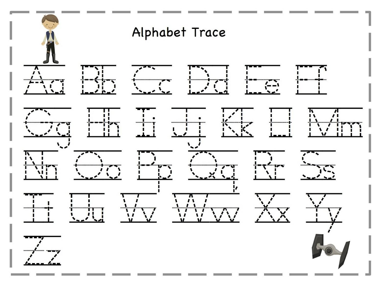 Alphabet Letter Tracing Worksheets Worksheets For All