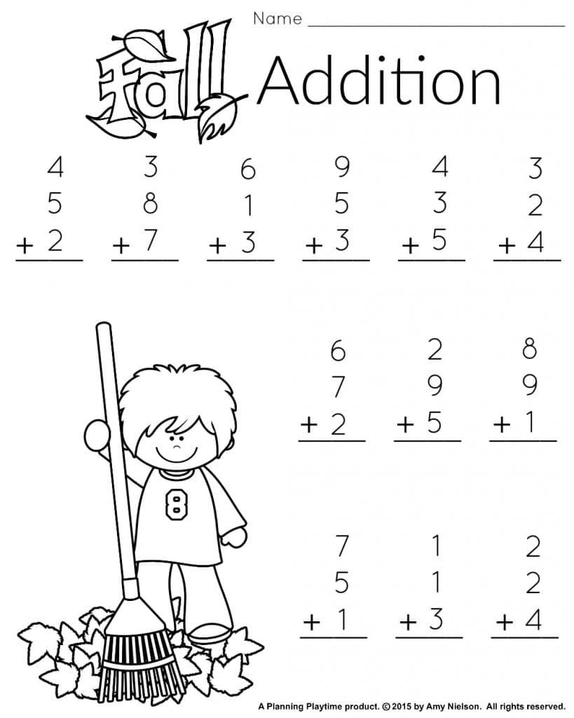 Autumn Math Worksheet Worksheets For All