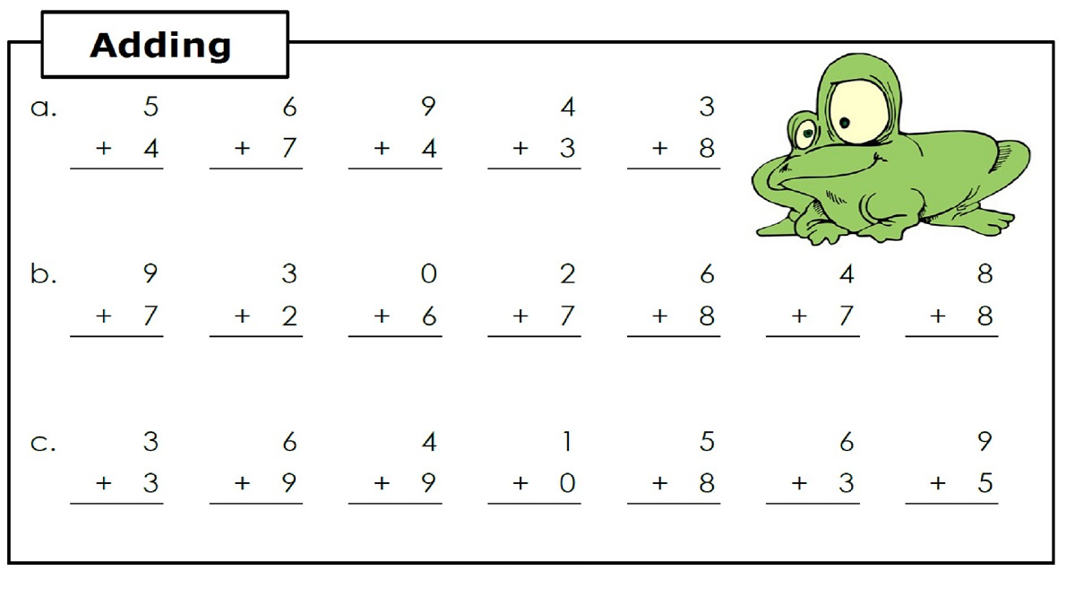 Basic Addition Worksheets Easy