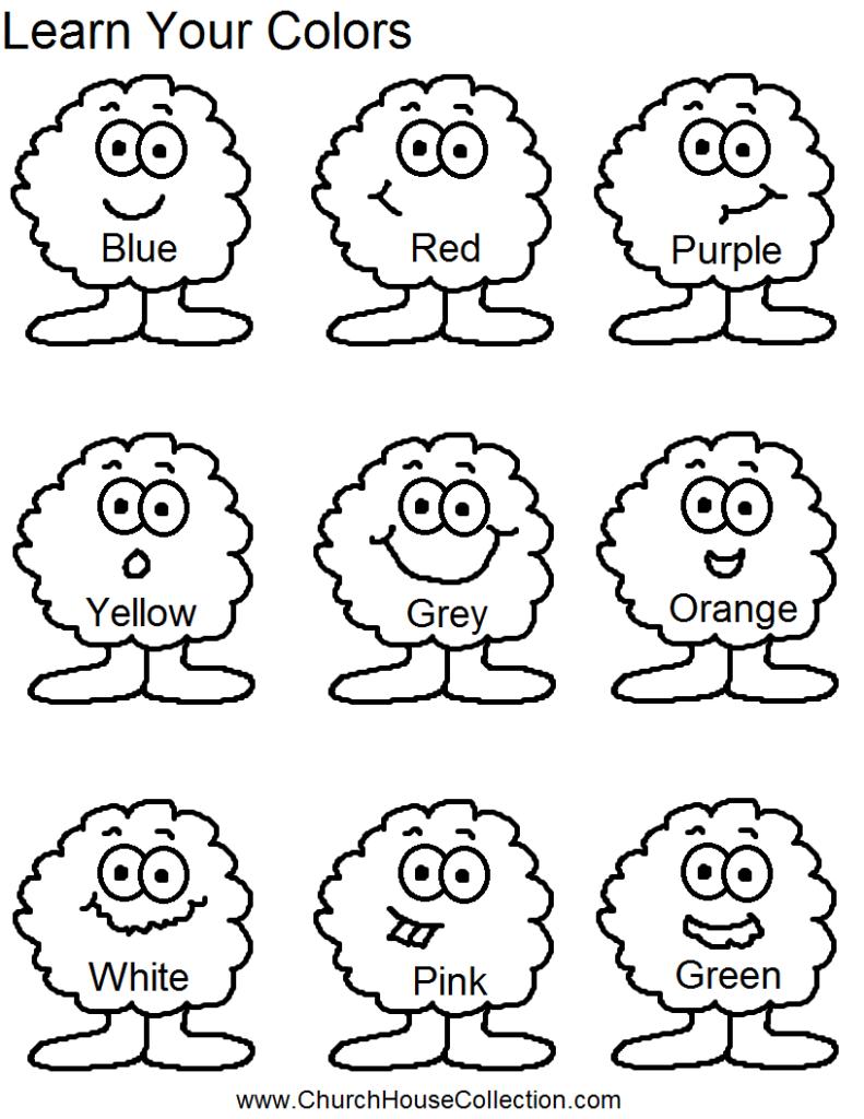 Blue Color Worksheets Preschool