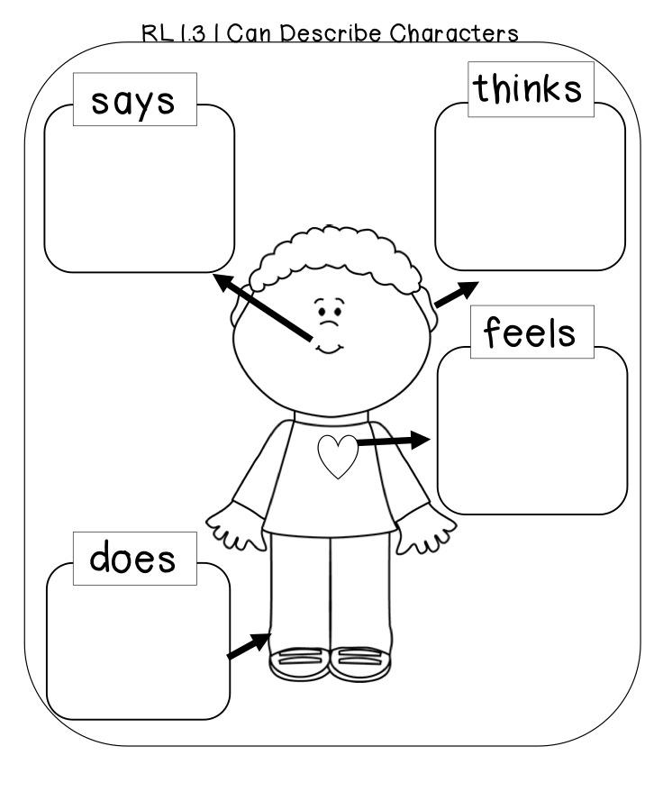 Character Worksheet 1st Grade