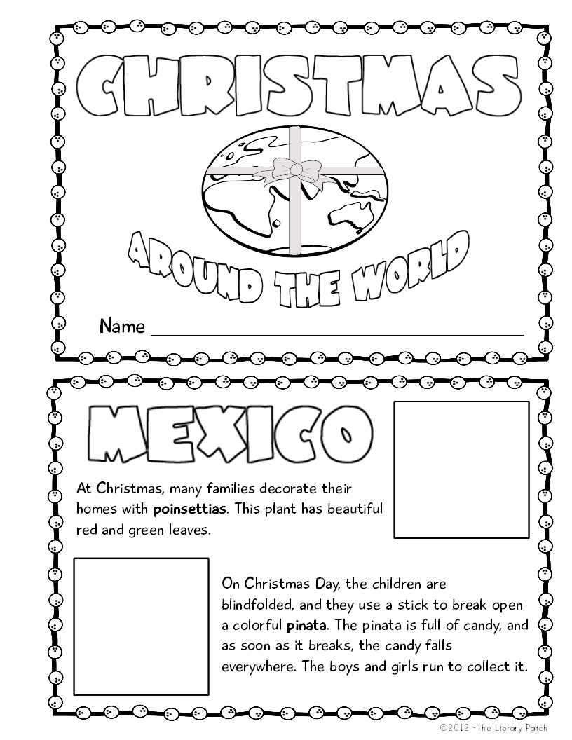 Christmas In Mexico Worksheet Worksheets For All