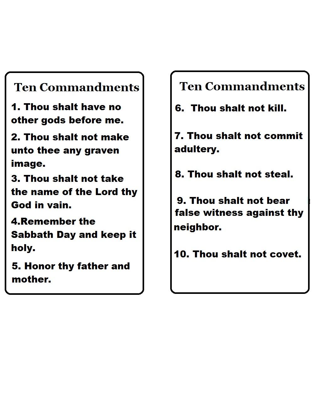 picture regarding 10 Commandments Printable Worksheets referred to as 10 Commandments Printable Worksheets