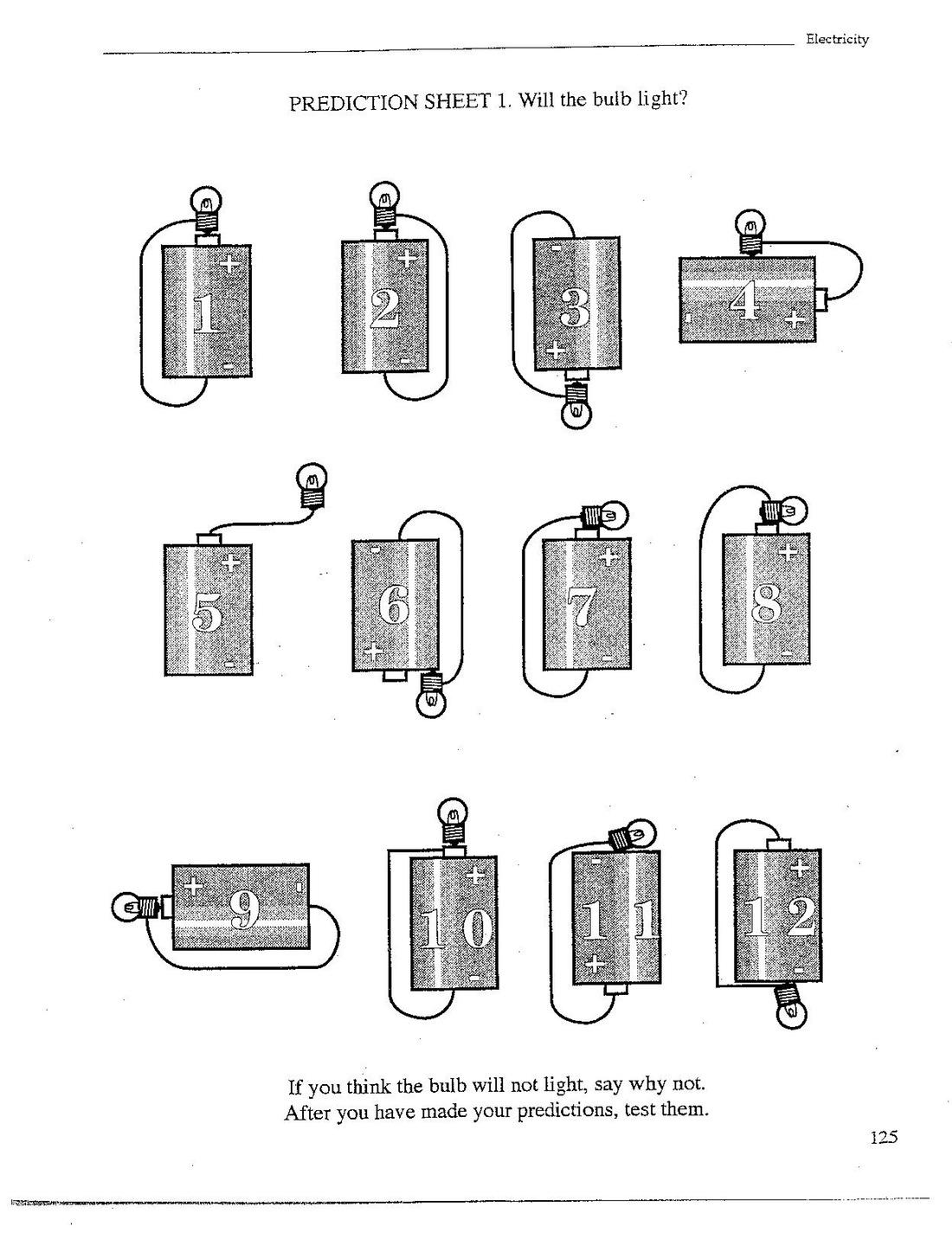 Circuits Worksheet ~ Electrical Diagram