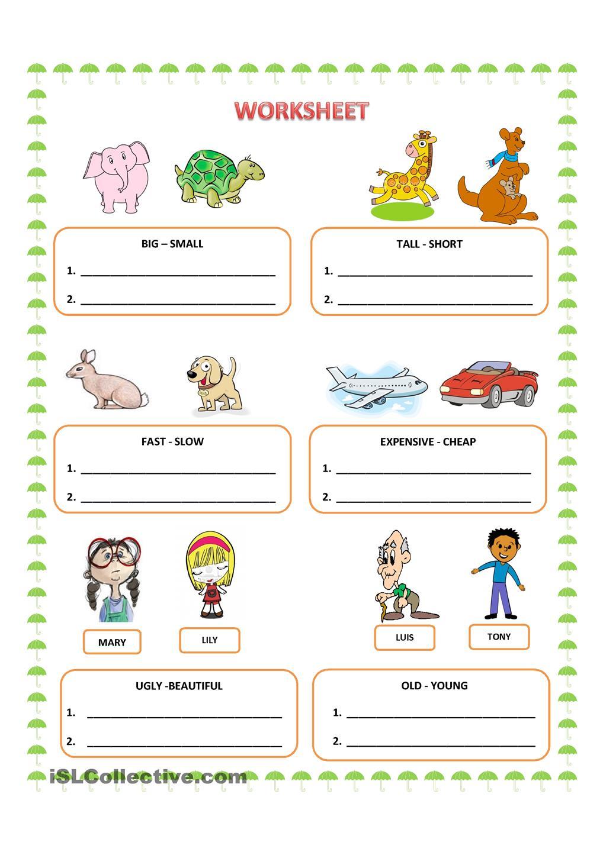 Comparative Adjectives English Worksheet Pinterest Adjective