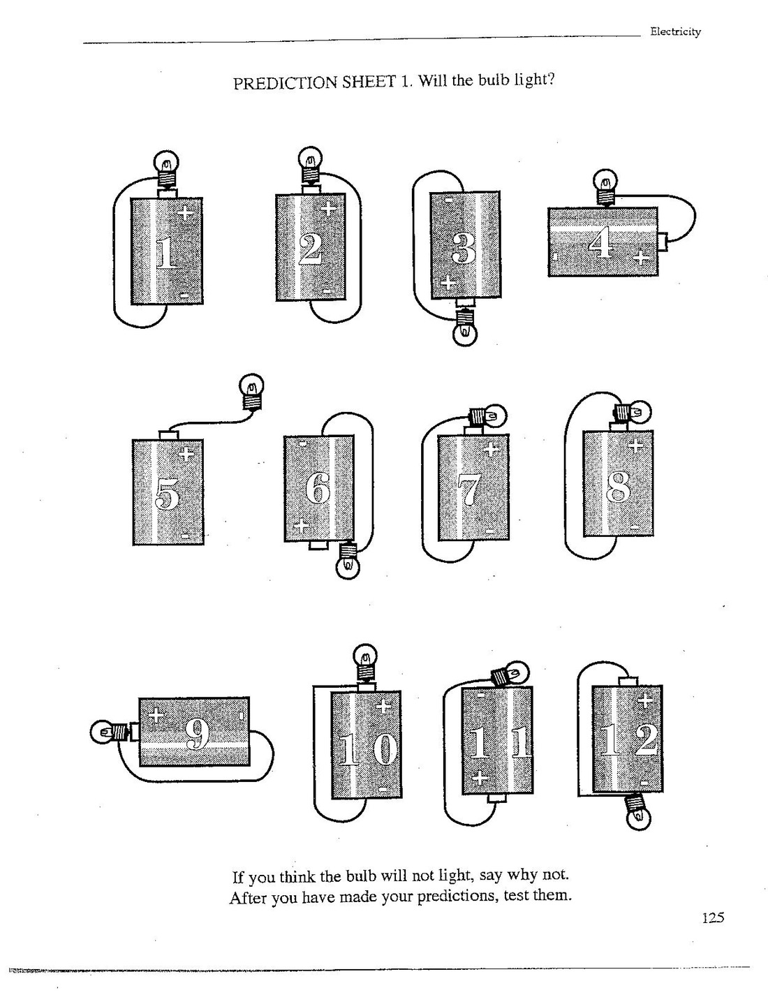 Component Electric Circuit Worksheet Electricity Unit Prezi For