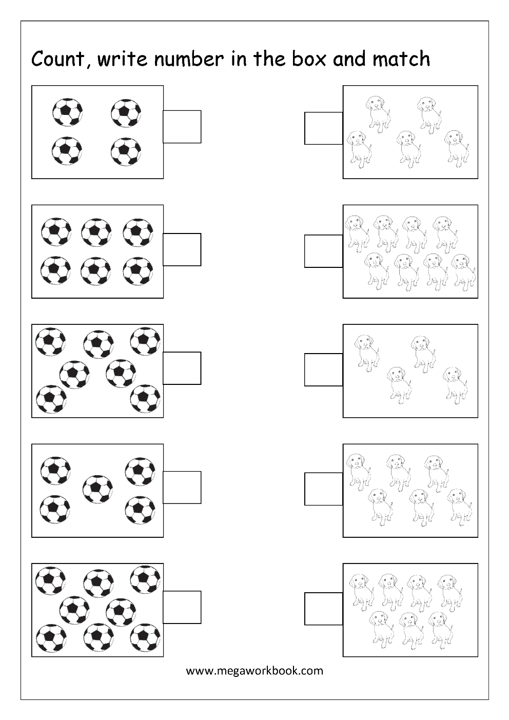 Kindergarten Worksheets Counting By 10