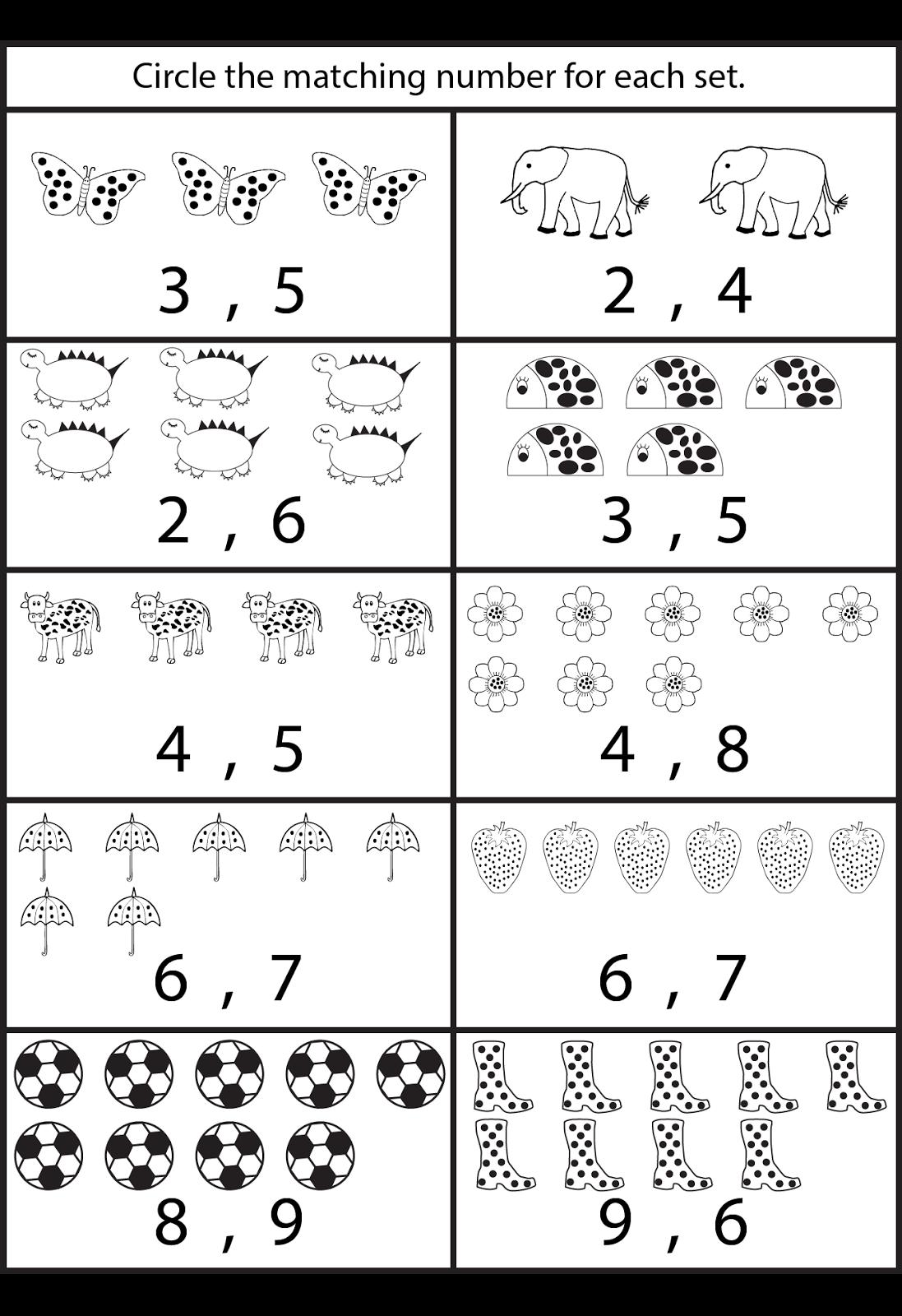 Counting Worksheets For Kindergarten …