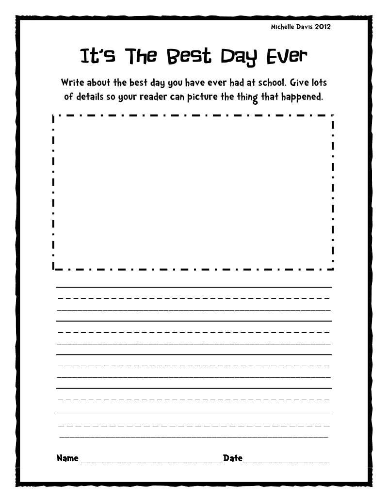 Creative Writing Prompts 1st Grade Cover Letter Of Interest