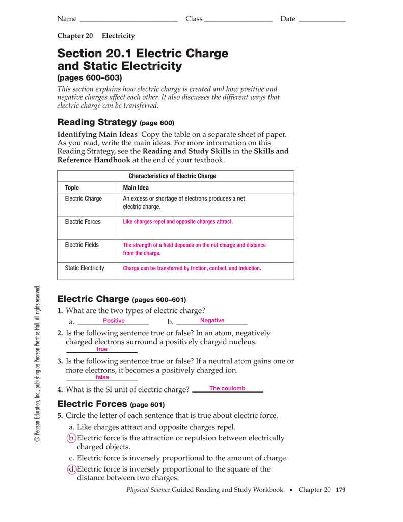 Current Electricity Worksheet Answers Worksheets For All
