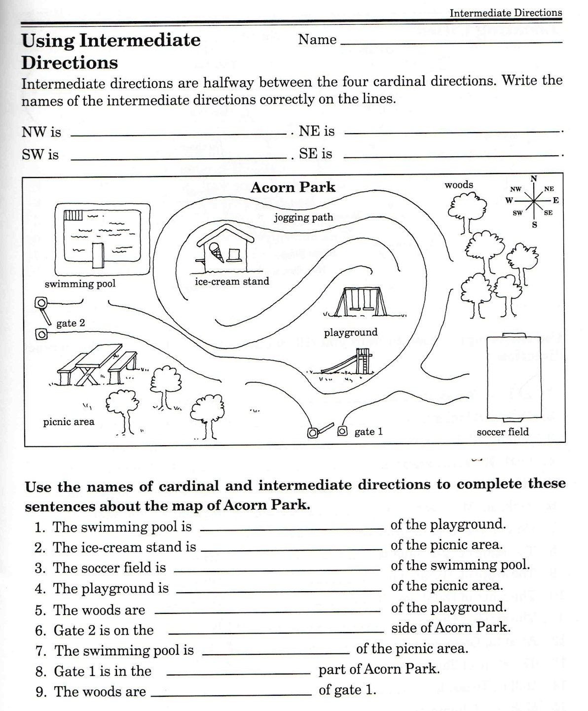 Direction Worksheets Free Library Download And Print Following