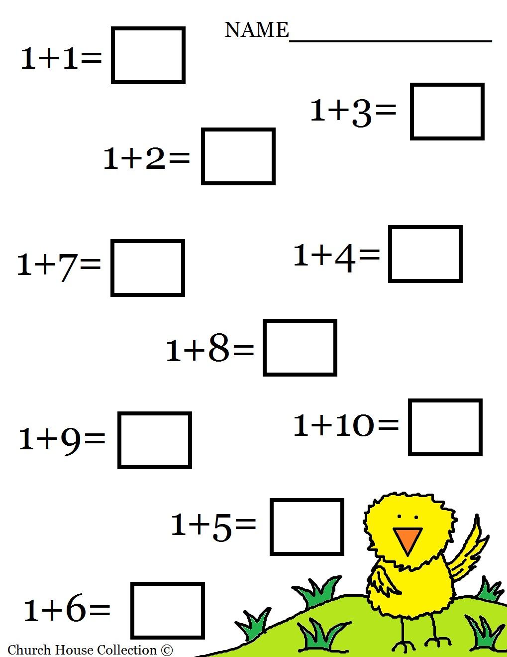 Easter Math Worksheets For Kids