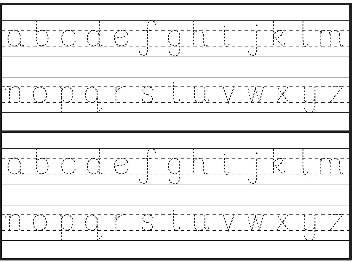 English Alphabet Worksheet For Kindergarten