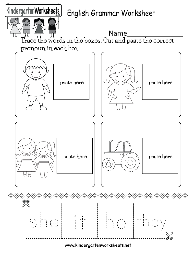 English Grammar Worksheet