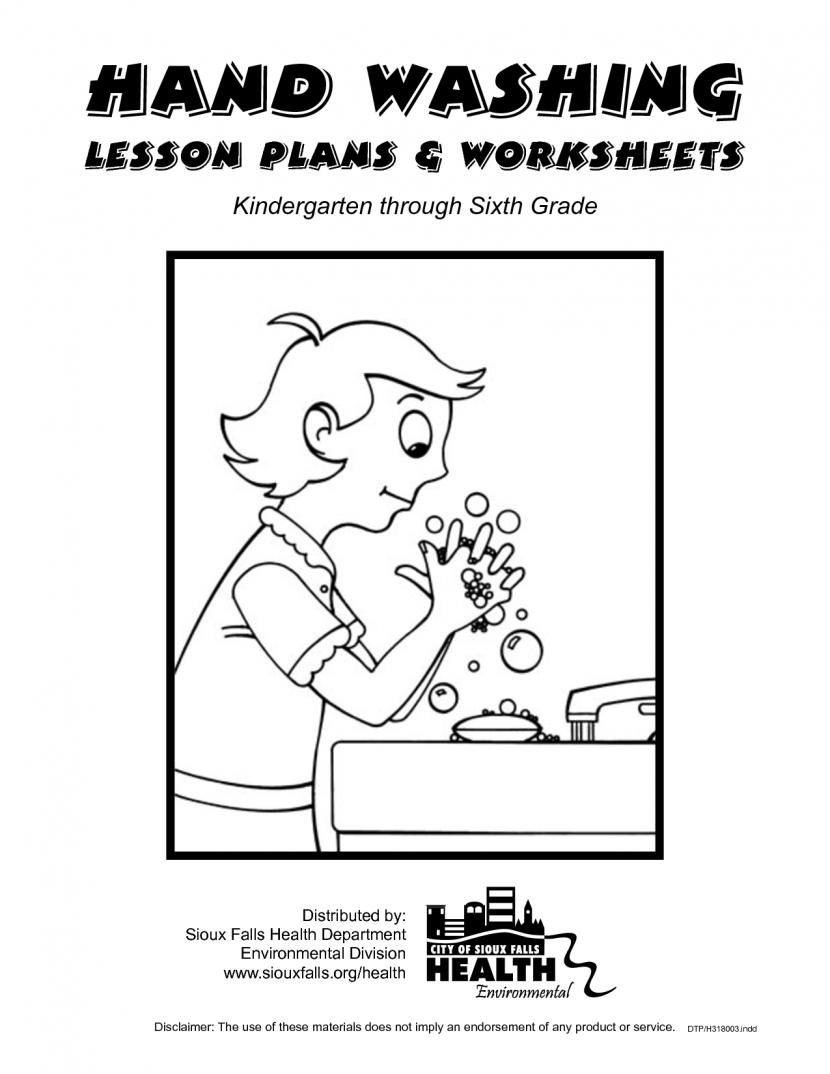 Esl Worksheets Kindergarten Nutrition Free Germ Hand Washing