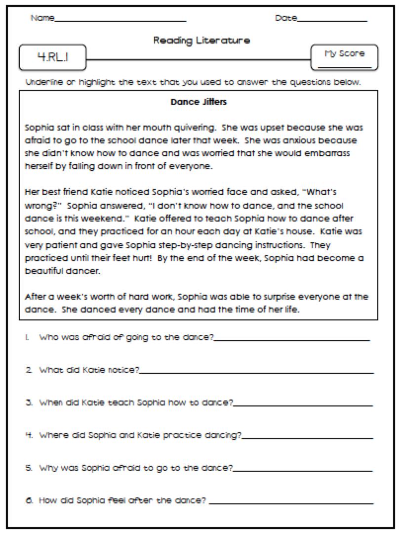 Excel  3rd Grade Language Worksheets  Fourth Grade Language Arts