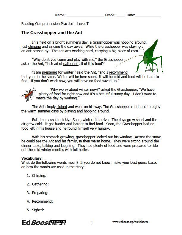 Fables Worksheets For 3rd Grade The Best Worksheets Image