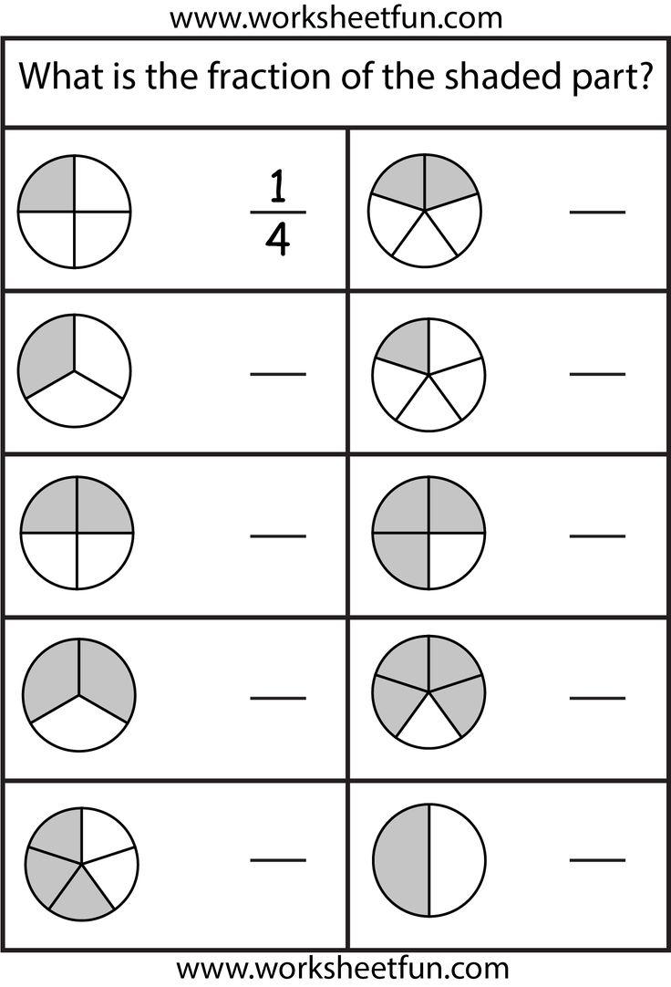 Fraction Worksheets For 2nd Graders Worksheets For All