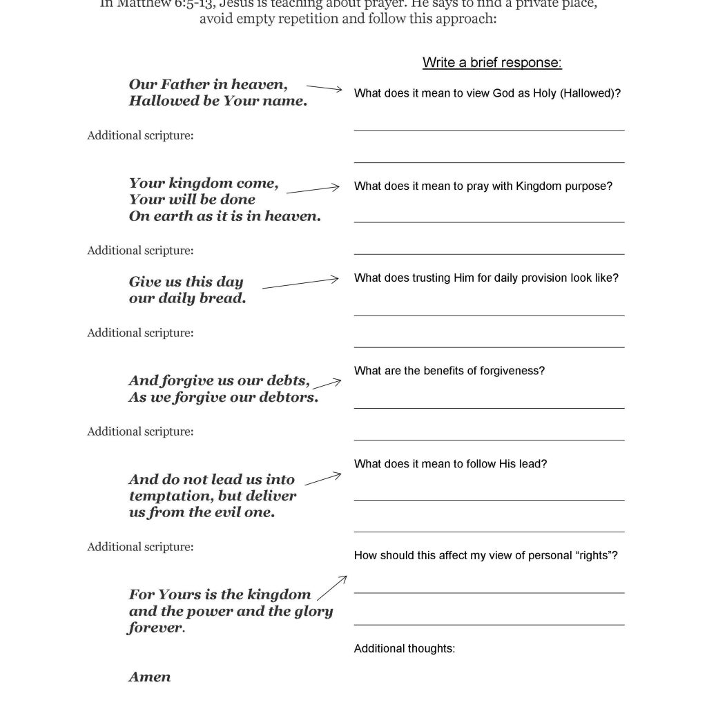 Free Bible Worksheets Worksheets For All