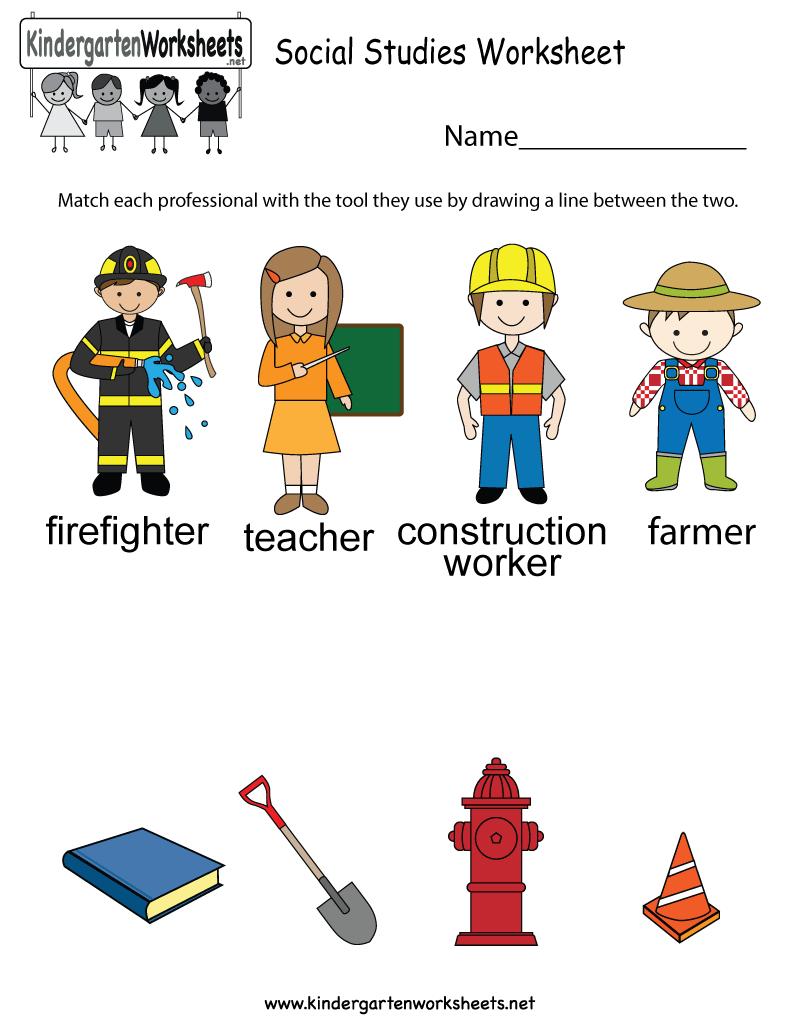 Tools Worksheets Kindergarten