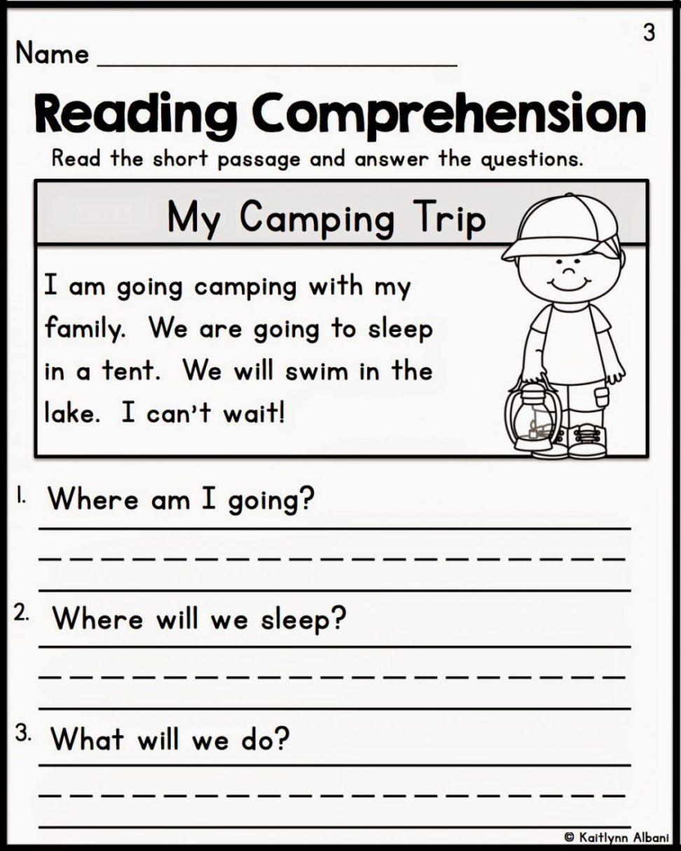 Free Printable Kindergarten Reading Comprehension Worksheets