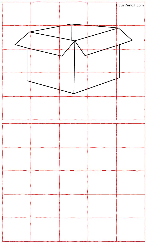 Free Printable Package Grid Line Drawing Worksheet For Kids