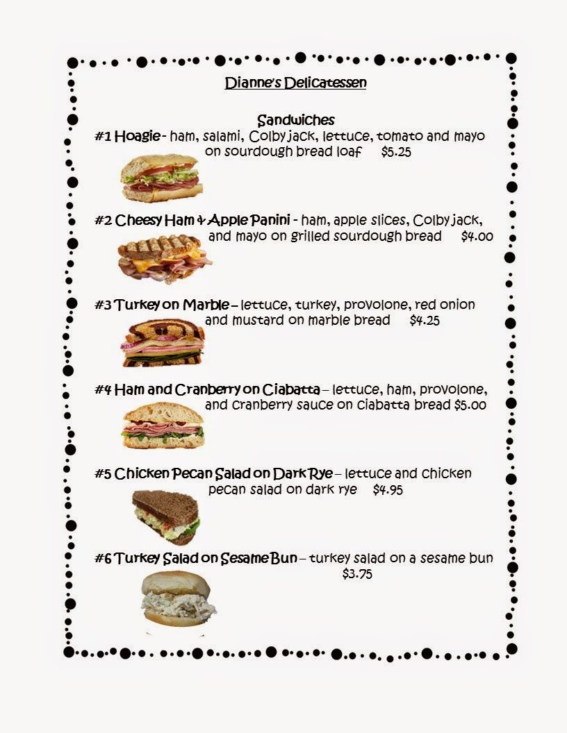 Free! This Free 3 Page Menu Can Be Used To Create Menu Math