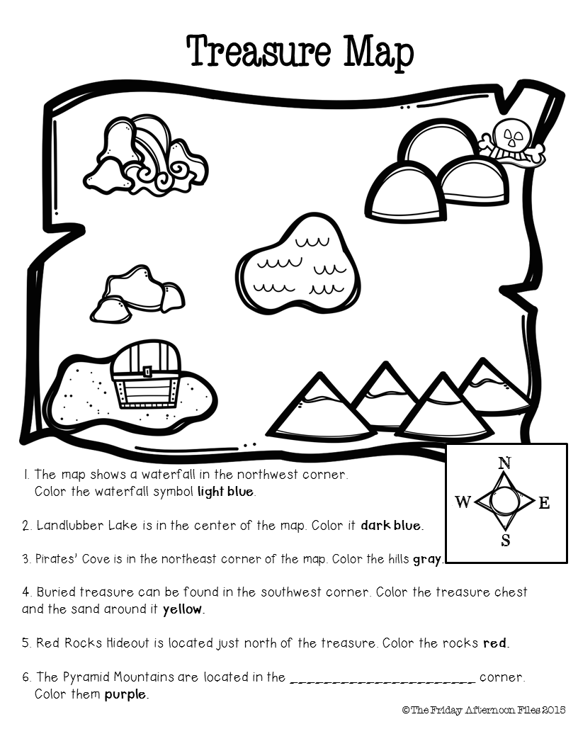 Freebie! Cardinal Direction Practice And Beginning Map Skills Are
