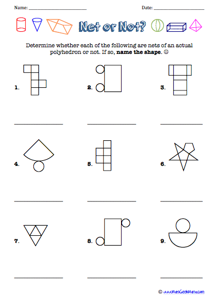 Geometric Shapes Nets Worksheets The Best Worksheets Image