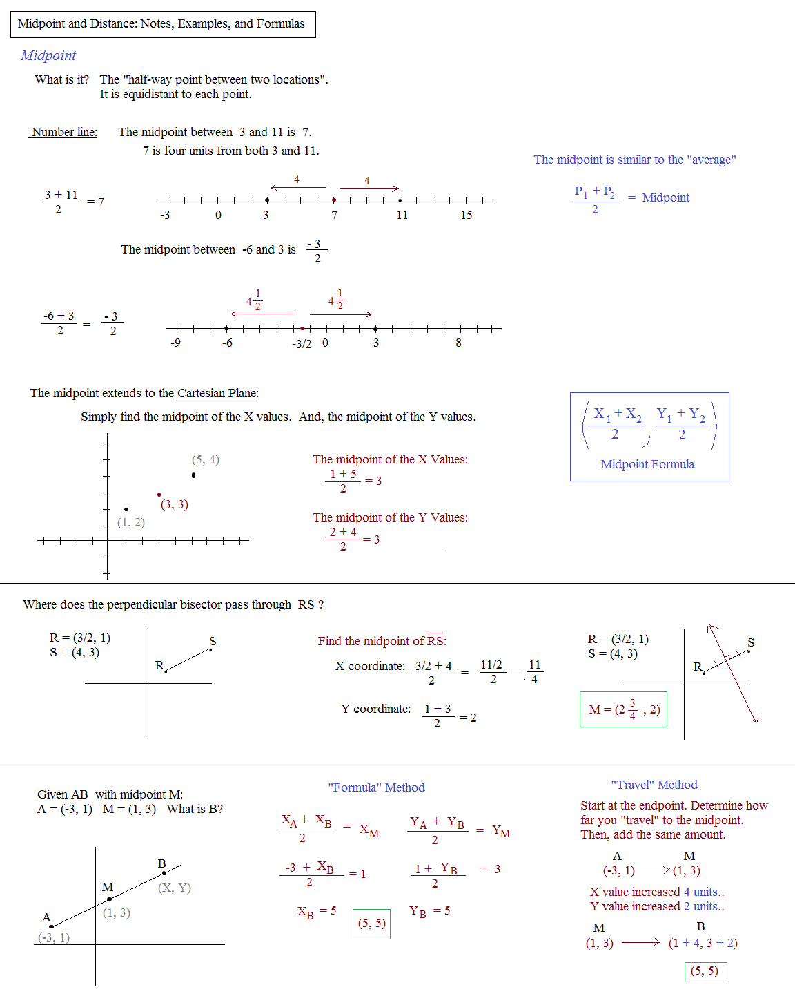 Geometry Distance And Midpoint Worksheet Worksheets For All