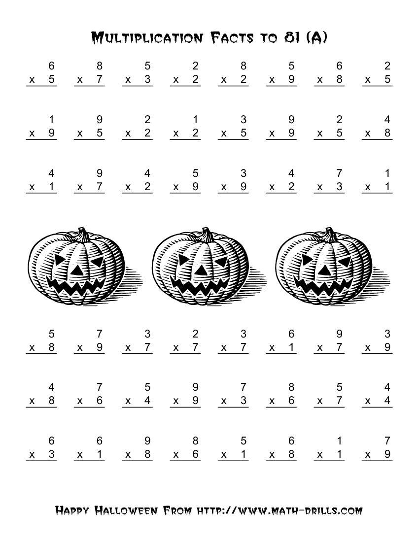 Halloween Math Worksheets Grade 5 Worksheets For All