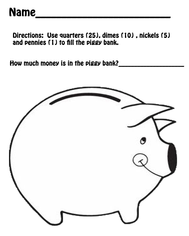 Hands On Teaching  Piggy Bank Math
