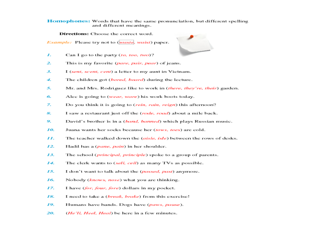 Homographs Worksheets 5th Grade Worksheets For All
