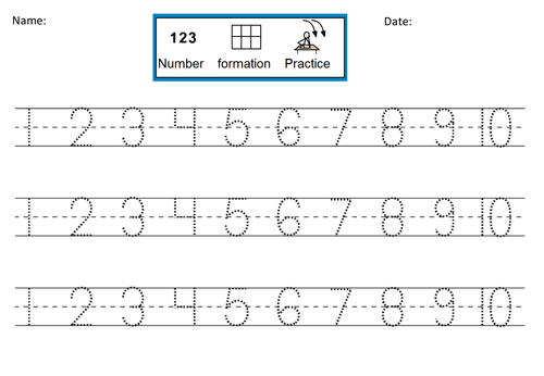 Ideas Collection Number Practice Worksheets 1 10 About Format