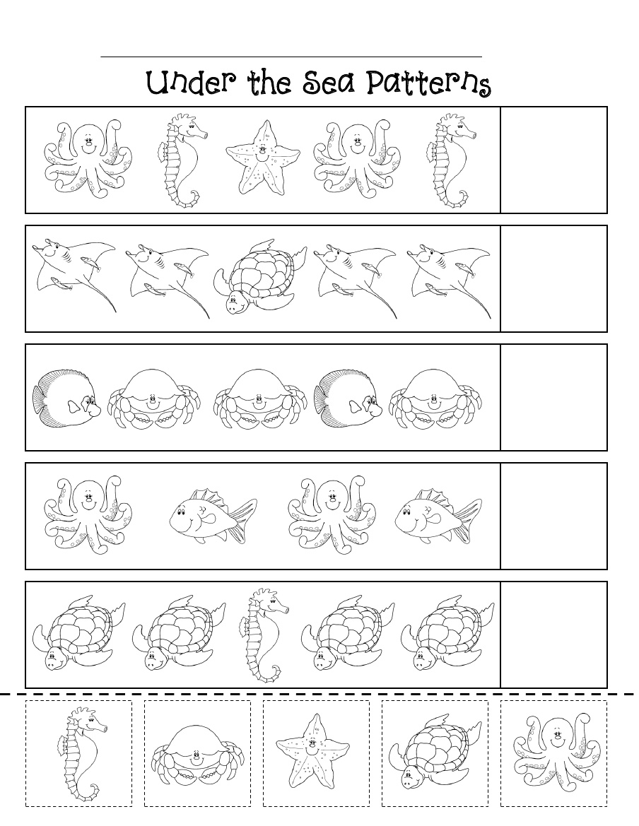 Kindergarten Math Printables 2 Sequencing To 25 Free Pattern