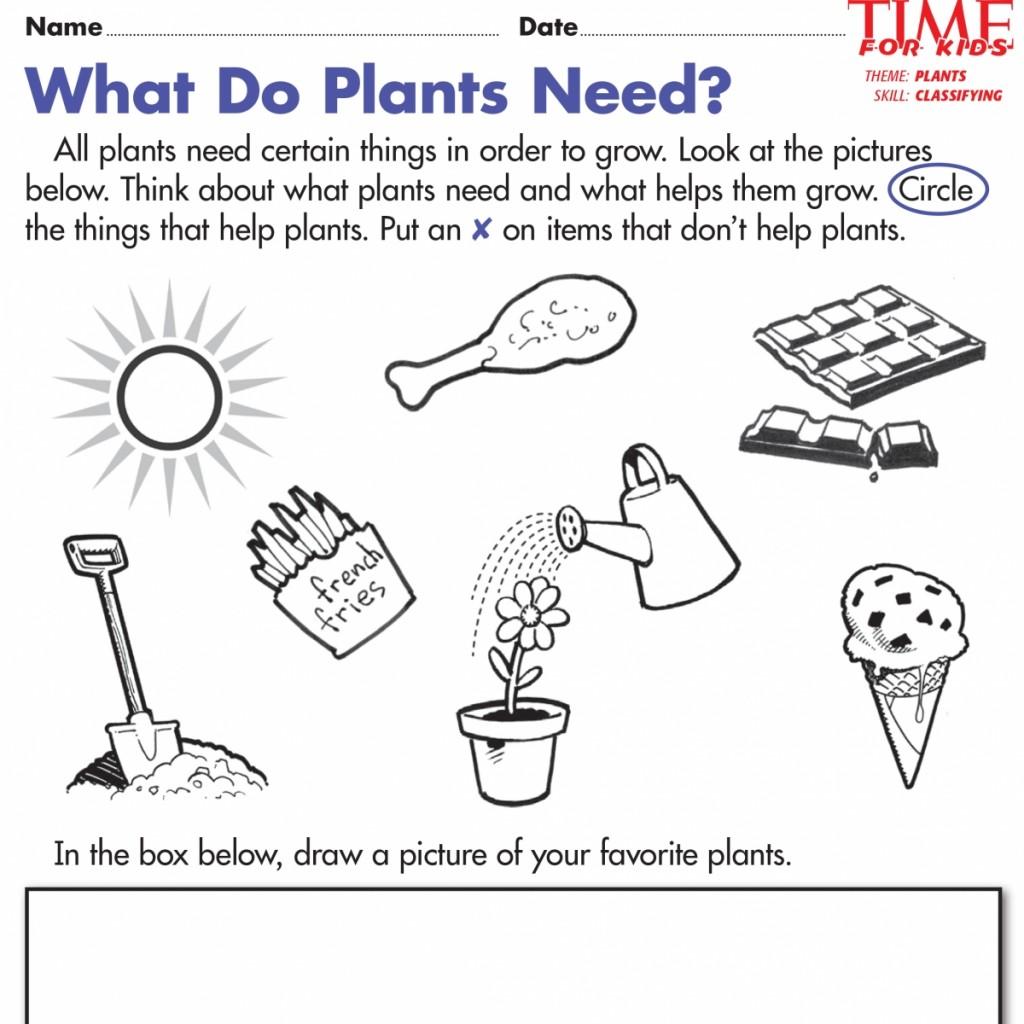 Kindergarten Science Worksheets Plants Worksheets For All