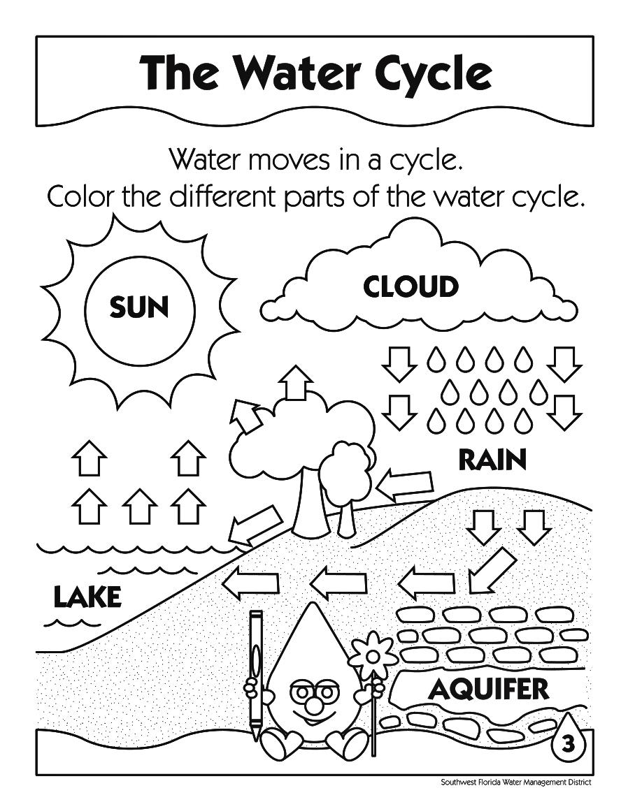 Kindergarten Water Cycle Worksheet For Kindergarten Picture