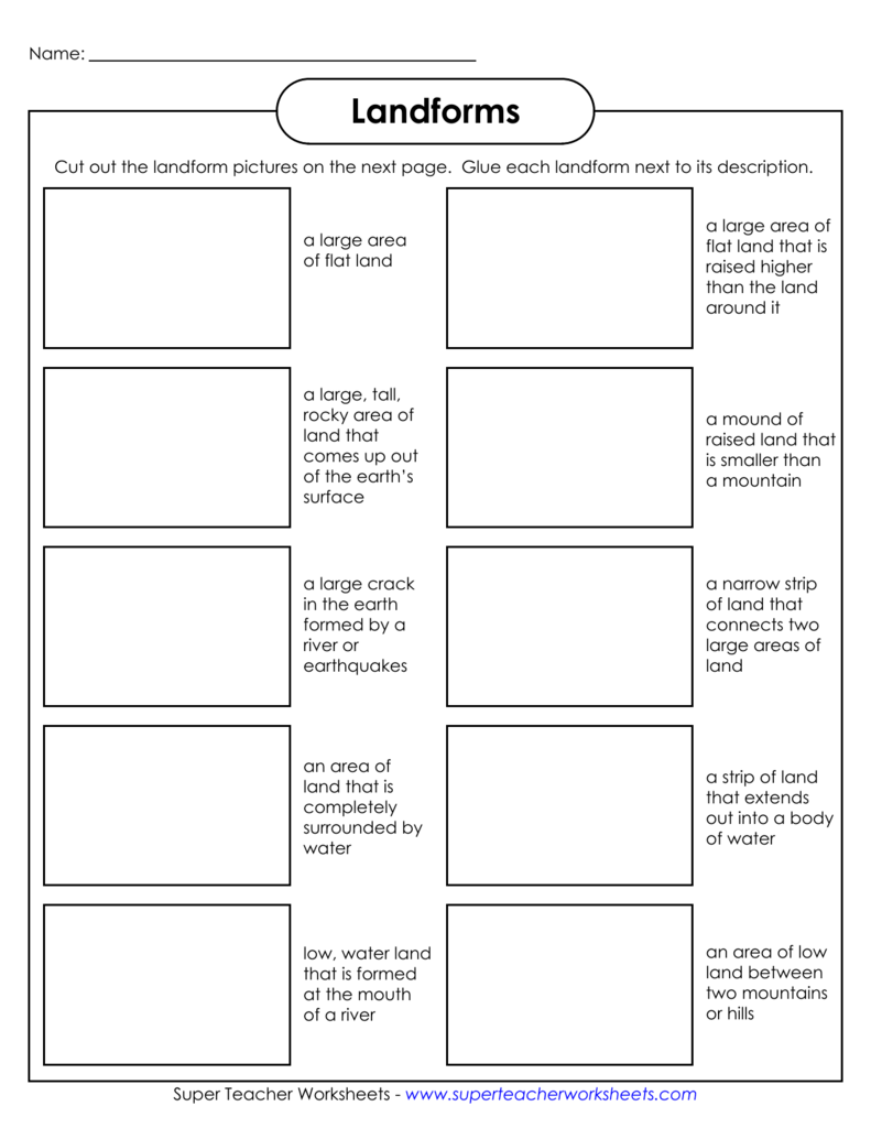 Landforms Super Teacher Worksheets For Third Grade 008342336_1