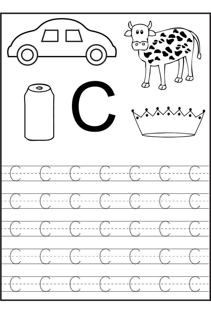 Letter C Tracing Worksheet Worksheets For All