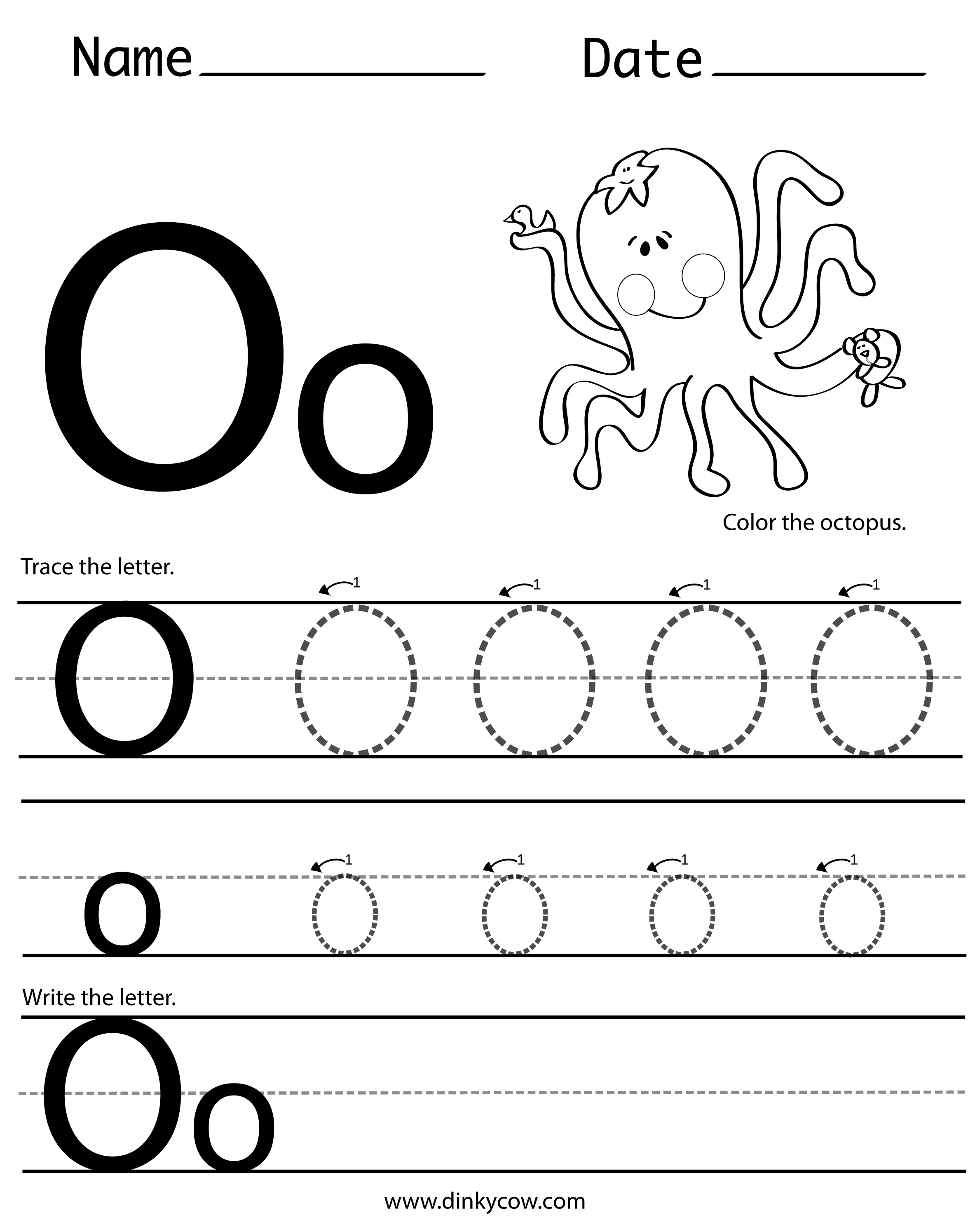 Letter O Activities The Best Worksheets Image Collection