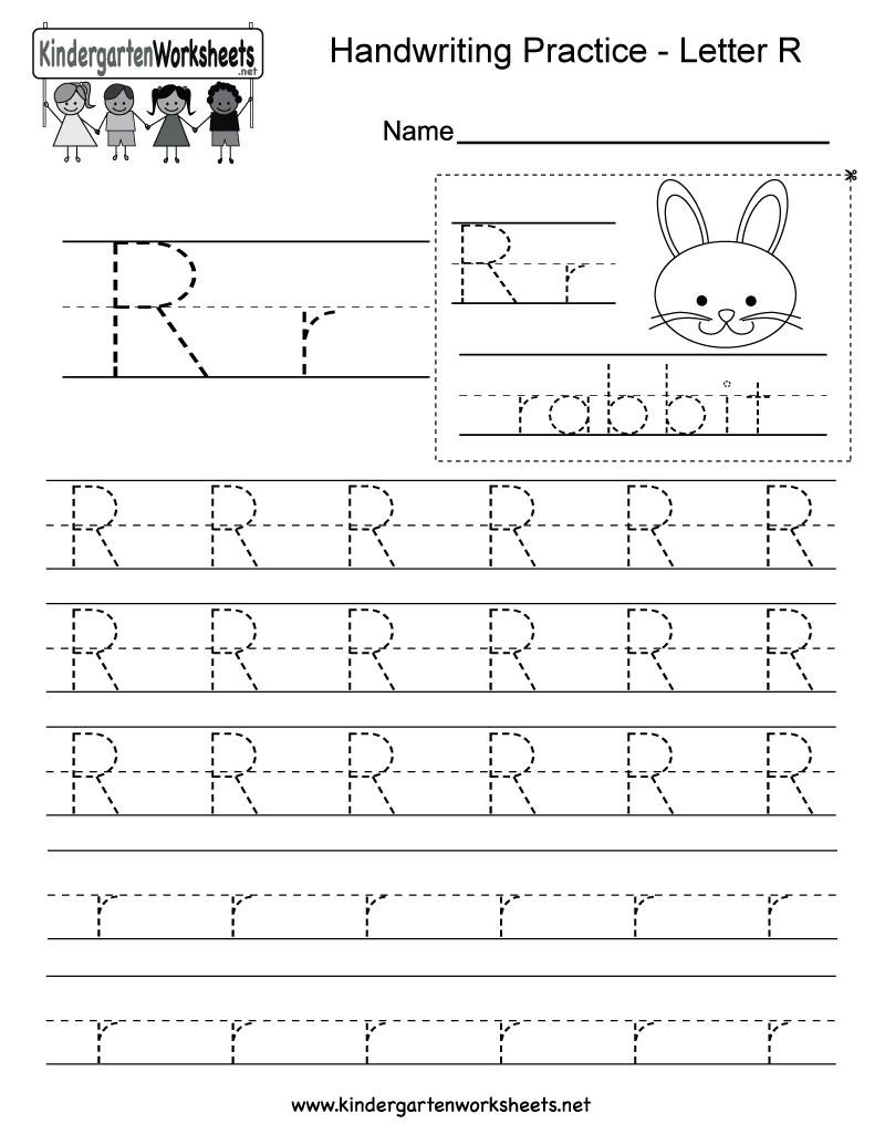 Letter R Writing Practice Worksheet