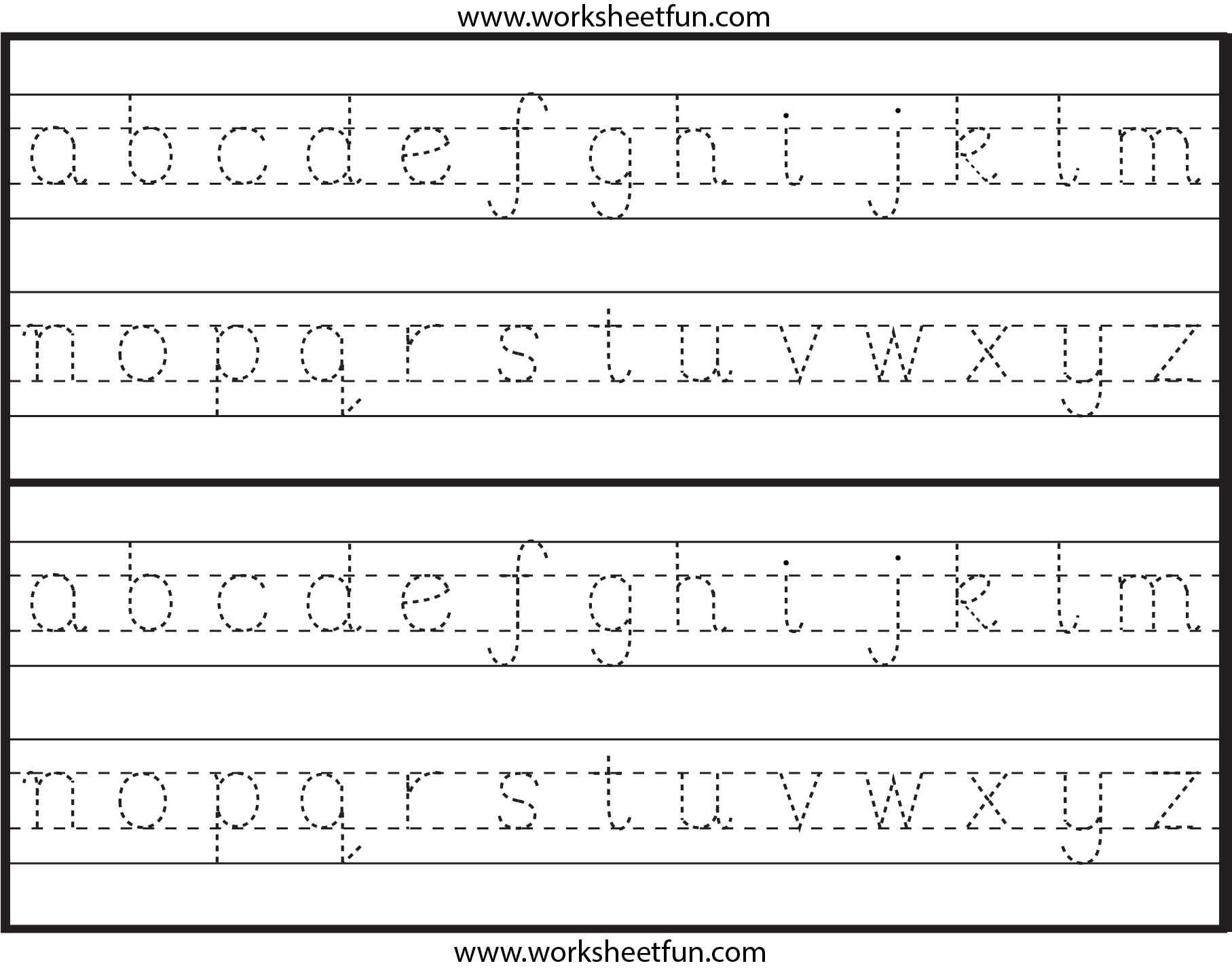 Lowercase Tracing Worksheets Worksheets For All