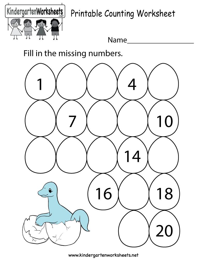 Math Counting Worksheets For Kindergarten Worksheets For All