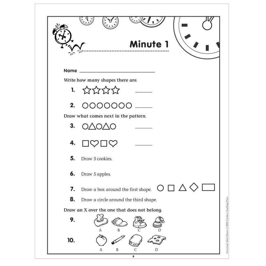 Math Mad Minute Worksheets - Kidz Activities