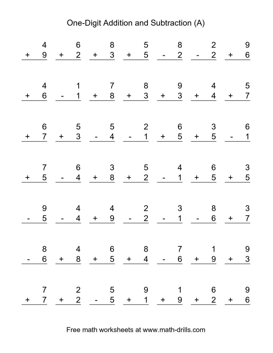 Math Worksheets For Grade 2 Addition And Subtraction Worksheets
