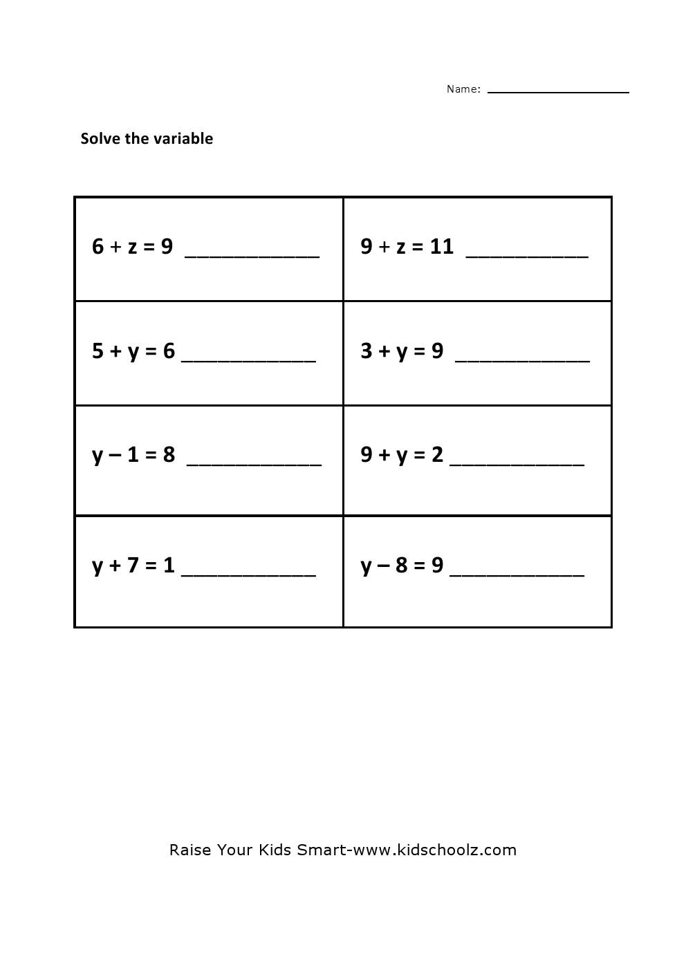 Mathematics Pre Algebra 4 5 Worksheet Worksheets For All