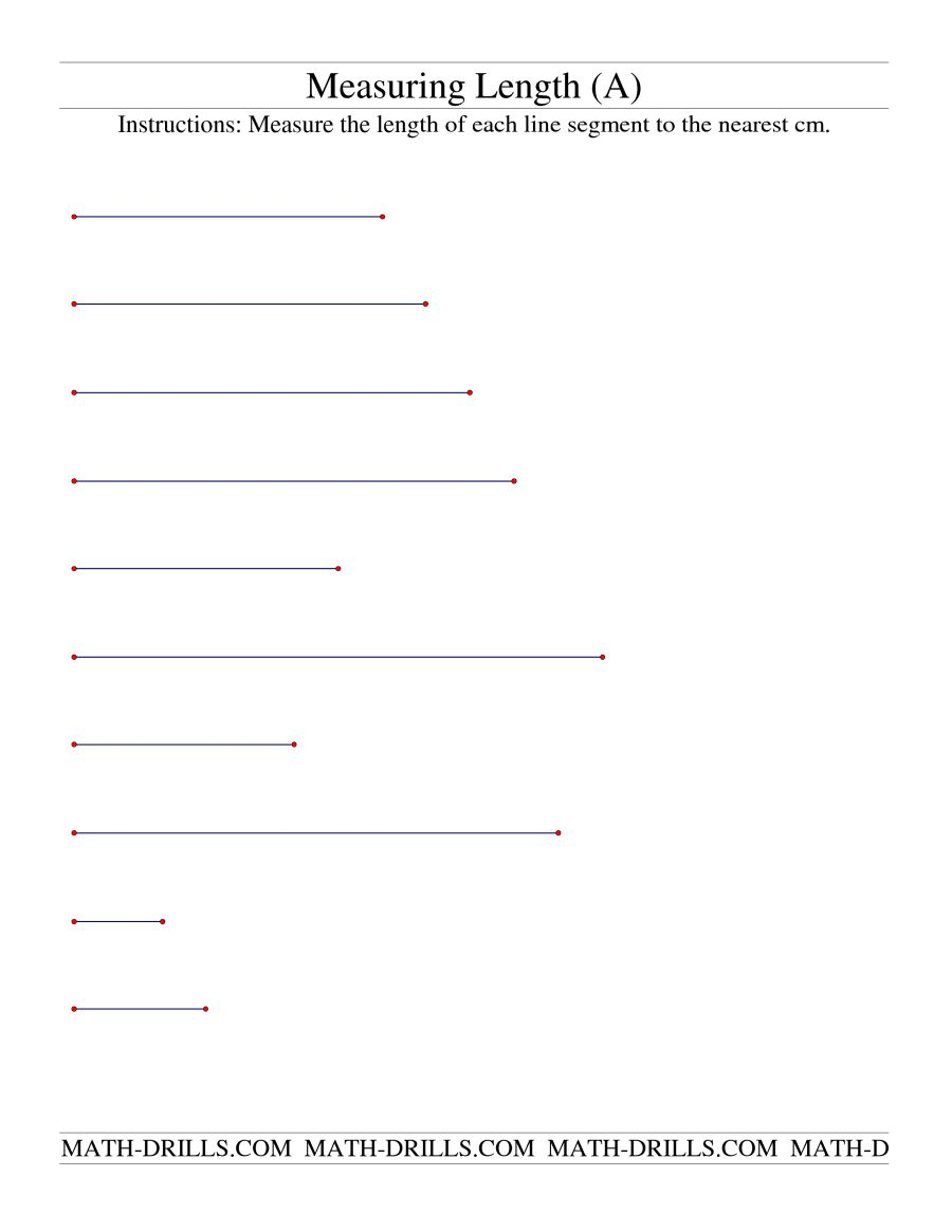 Measuring Length Of Line Segments In Cm (a)