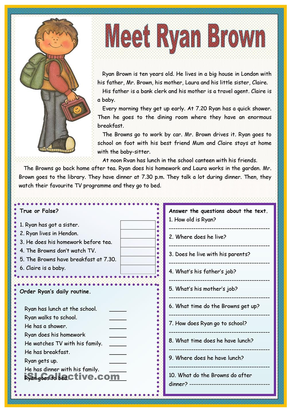 Worksheets Esl Reading Worksheets esl reading comprehension worksheets for adults